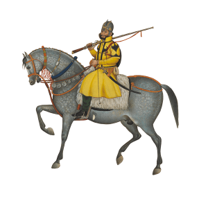 Detail, Cavalryman from Skinner's Horse regiment <br />