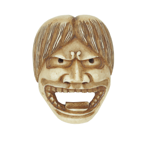 Netsuke in shape of Noh mask <br />