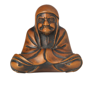 Netsuke in shape of Daruma meditating <br />